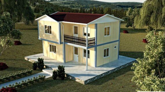 105 m2 Çift Katlı Prefabrik Ev