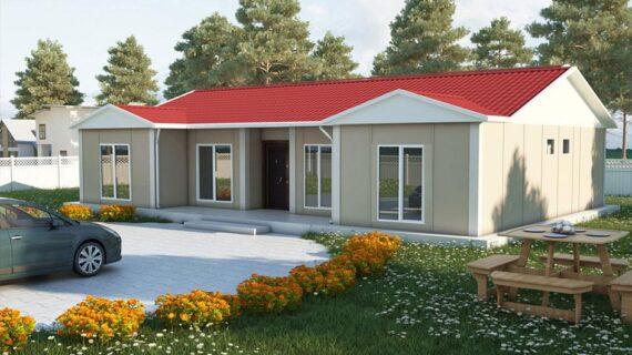 129 m2 Tek Katlı Prefabrik Ev