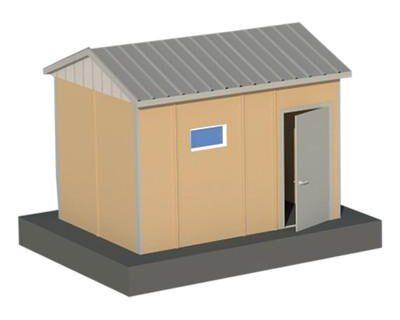 13 m2 Prefabrik WC Duş