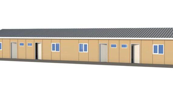 166 m2 Prefabrik Acil Afet Binası