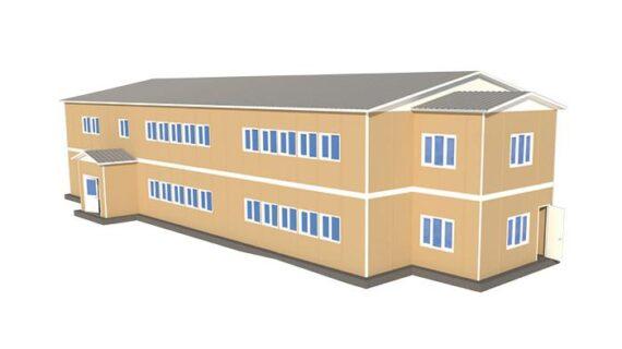 729 m2 İki Katlı Prefabrik Okul Binası